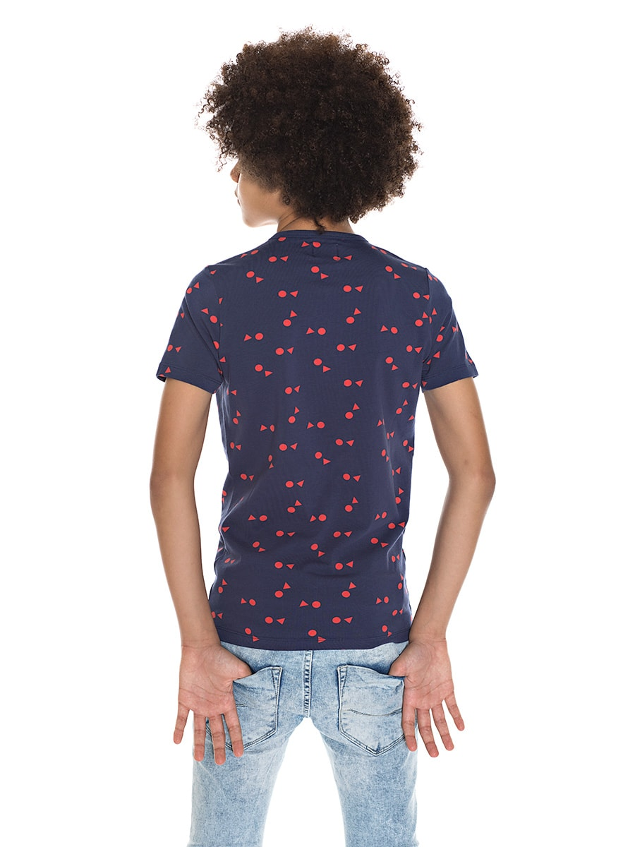ALLOVER TEE navy