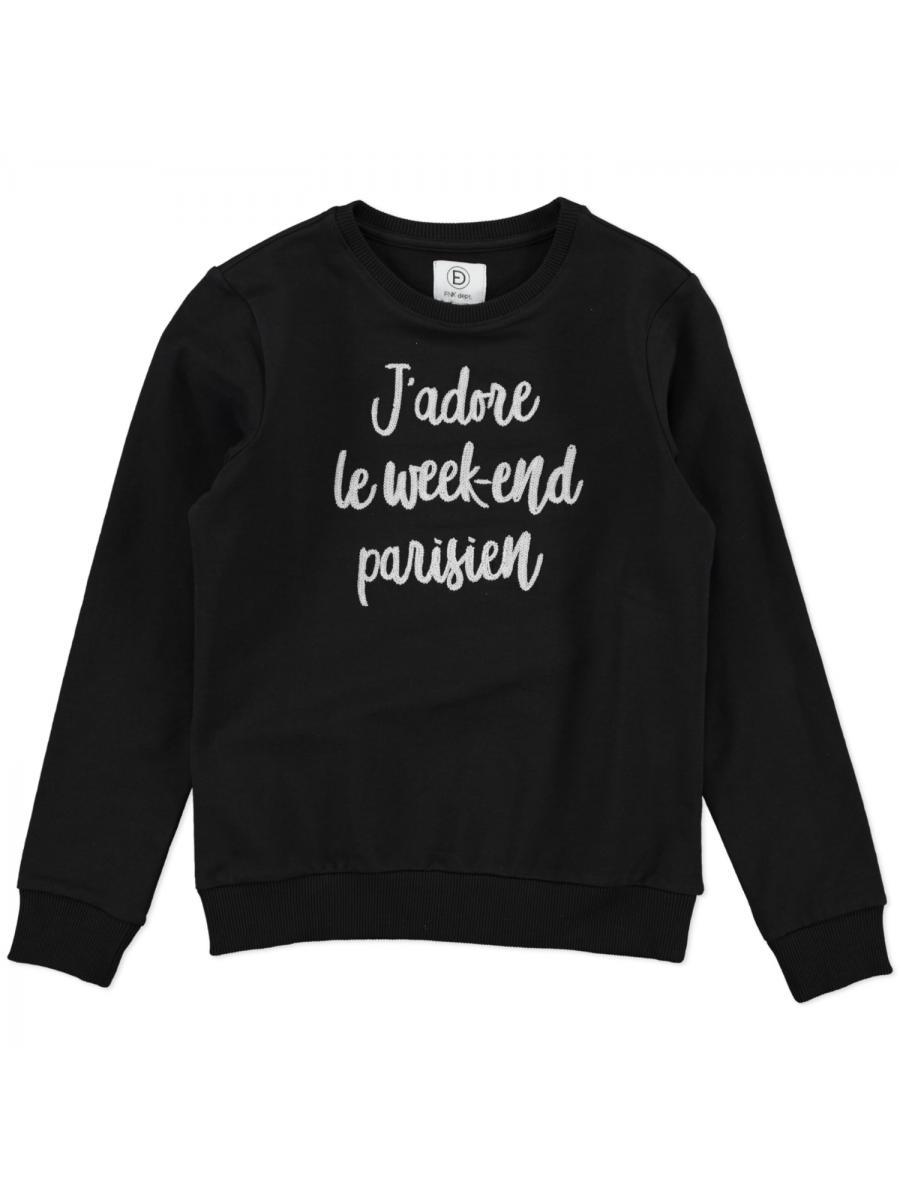 WEEK-END SWEAT black
