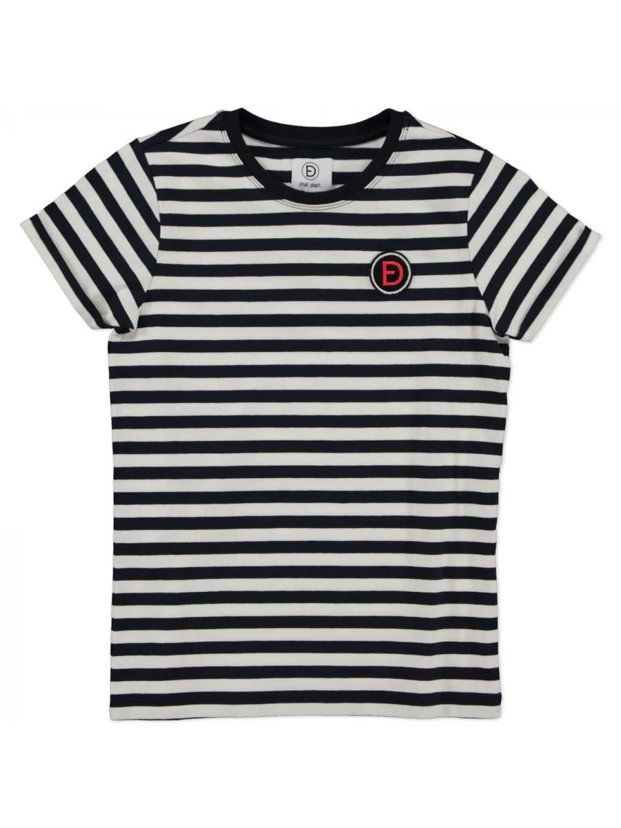 STRIPE TEE navy/white